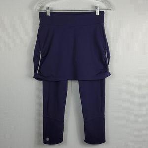 Athleta Contender 2 in 1 Skirt Capri Size ST